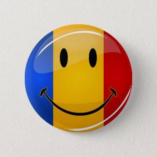 微笑のルーマニアの旗 缶バッジ