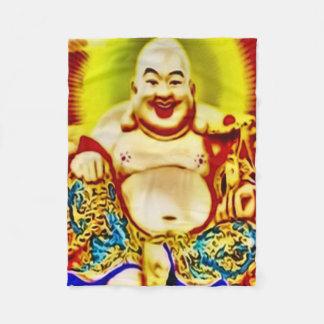 微笑の仏のエアブラシの芸術のフリースブランケット フリースブランケット