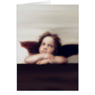 微笑の天使の天使の男の子 カード