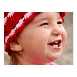 微笑の女の赤ちゃん ポストカード