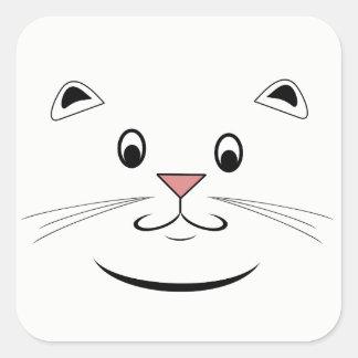 微笑の子猫猫の顔 スクエアシール