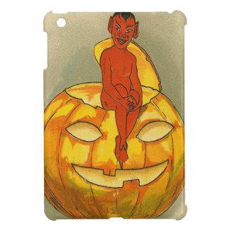 微笑の悪魔のジャックOのランタンのカボチャ iPad MINIケース