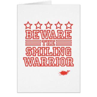 微笑の戦士を用心して下さい カード