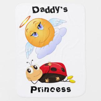 微笑の日曜日及びてんとう虫を持つお父さんのプリンセス ベビー ブランケット