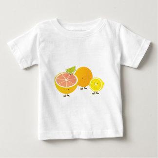 微笑の柑橘類のグループ ベビーTシャツ