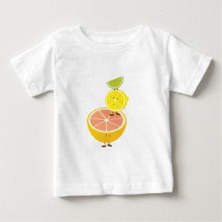 微笑の柑橘類の積み重ね ベビーTシャツ