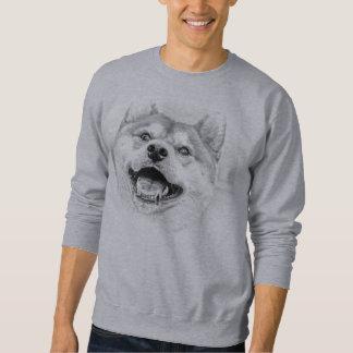 微笑の柴犬犬 スウェットシャツ