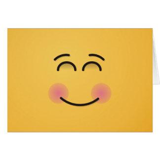 微笑の目が付いている微笑の顔 カード