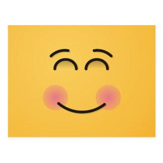 微笑の目が付いている微笑の顔 ポストカード