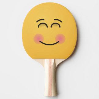 微笑の目が付いている微笑の顔 卓球ラケット