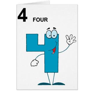 微笑の第4挨拶状 カード