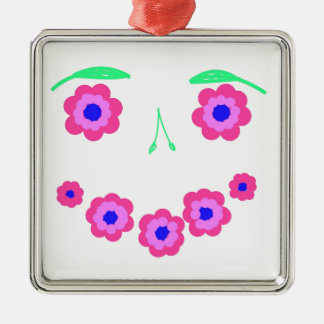 微笑の花の顔プロダクト メタルオーナメント