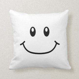 微笑の表現の枕0001 (可変性色) クッション