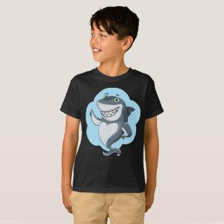 微笑の表示されたヨシキリザメの輪郭はTシャツをからかいます Tシャツ