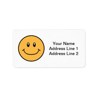 微笑の顔はオレンジ0001を分類します ラベル