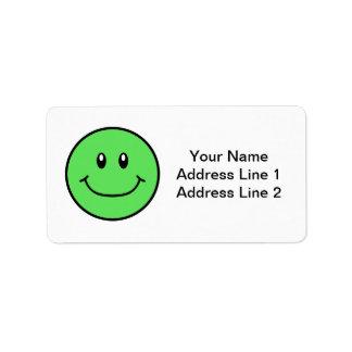 微笑の顔は緑0001を分類します ラベル