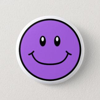 微笑の顔ボタンの紫色0001 缶バッジ