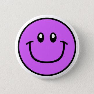 微笑の顔ボタンの紫色0003 缶バッジ