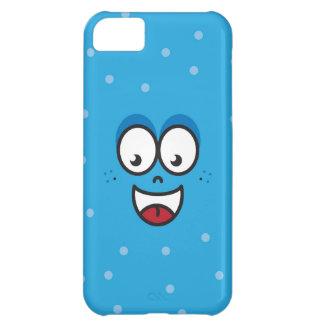 微笑の顔-青いiPhone 5cケース iPhone5Cケース