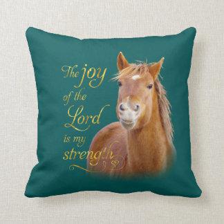 微笑の馬の聖書の引用文の装飾用クッション クッション
