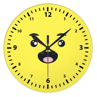 微笑のEmoji ラージ壁時計