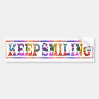 微笑を保って下さい: 色の魔術 バンパーステッカー
