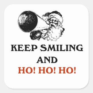 微笑をHo、Ho、Ho保てば(クリスマスの版) スクエアシール