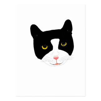 微笑猫の顔 ポストカード