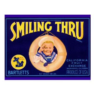 微笑 ポストカード
