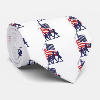 微細な人および米国旗 オリジナルネクタイ