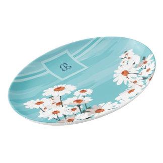 微風のデイジー 磁器大皿