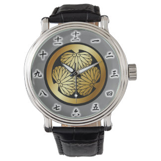 徳川家紋、Tokugawa KAMONの日本のな家紋 腕時計
