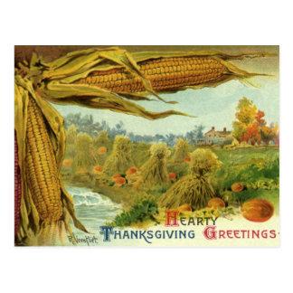 心からの感謝祭; トウモロコシおよび三角波 ポストカード