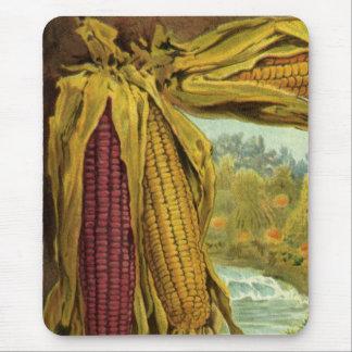 心からの感謝祭; トウモロコシおよび三角波 マウスパッド