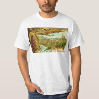 心からの感謝祭; トウモロコシおよび三角波 Tシャツ