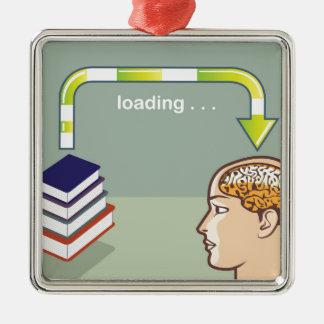 心への本からのローディングの知識 メタルオーナメント