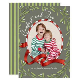 心地よいおよび喜びの休日の写真 カード