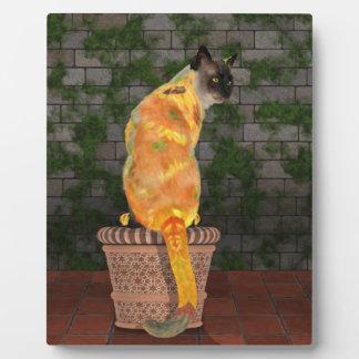 心地よいヒマワリ猫 フォトプラーク