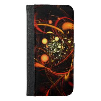 心拍の抽象美術のウォレットケース iPhone 6/6S PLUS ウォレットケース