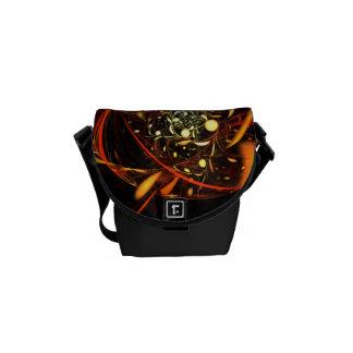 心拍の抽象美術の小型バッグ メッセンジャーバッグ