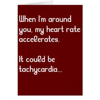 心拍数のおもしろいな医学のバレンタインデーカード カード