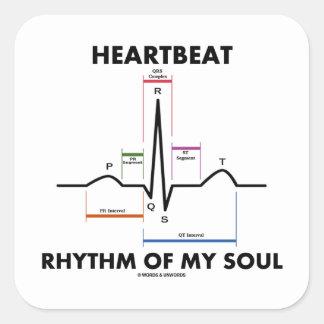 心拍|リズム|私|精神|(ECG/EKG) 正方形シール・ステッカー