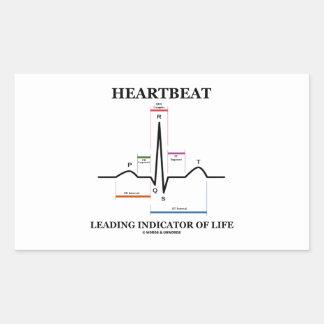 心拍 導くこと 表示器 生命 (ECG/EKG) 長方形シール・ステッカー
