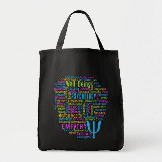心理学の単語の雲のバッグ トートバッグ