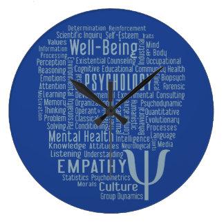 心理学の単語の雲カスタムな色の柱時計 ラージ壁時計