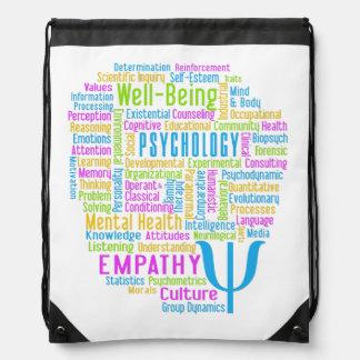 心理学の単語の雲カスタムな色のdaypack ナップサック
