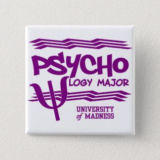 心理学の専攻のなボタン 5.1CM 正方形バッジ