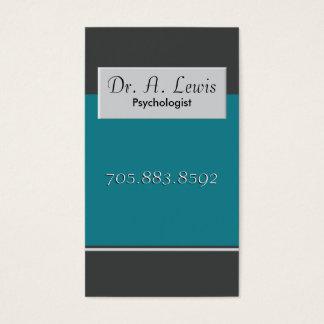 心理学者および医学の名刺-モノグラム 名刺