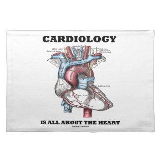 心臓学はハートについて完全にあります(解剖) ランチョンマット