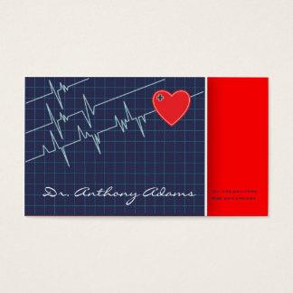 心臓学医の名刺のテンプレート 名刺